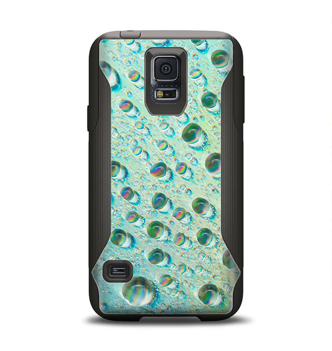 The RainBow WaterDrops Samsung Galaxy S5 Otterbox Commuter Case Skin Set