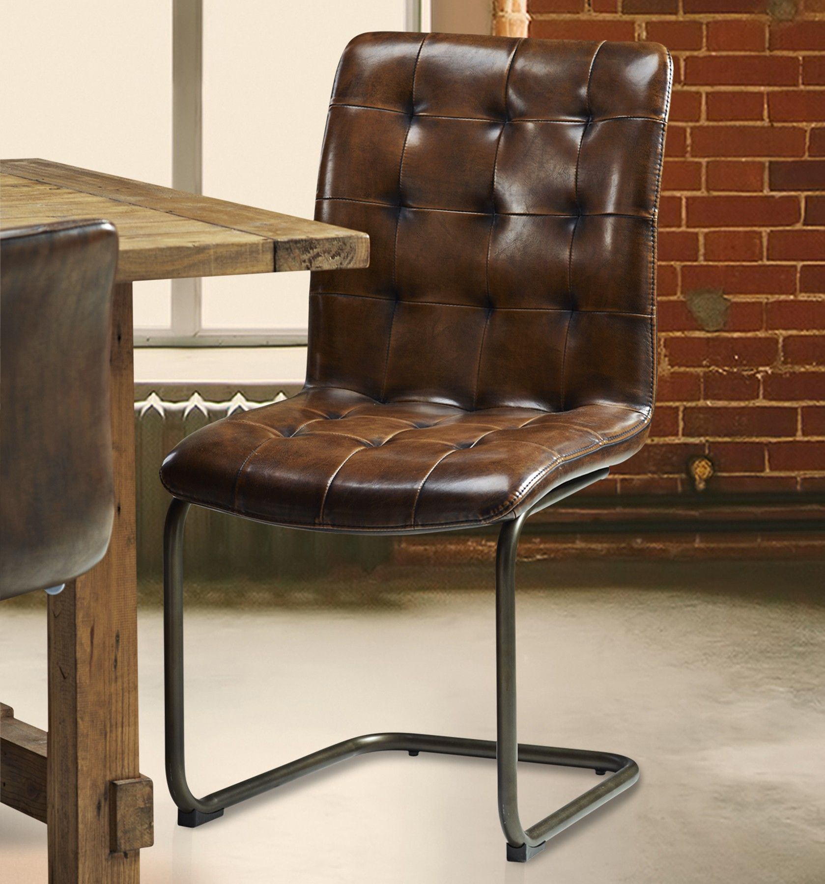 Vintage Tall Leather Dining Chair Vintage Leather Chair