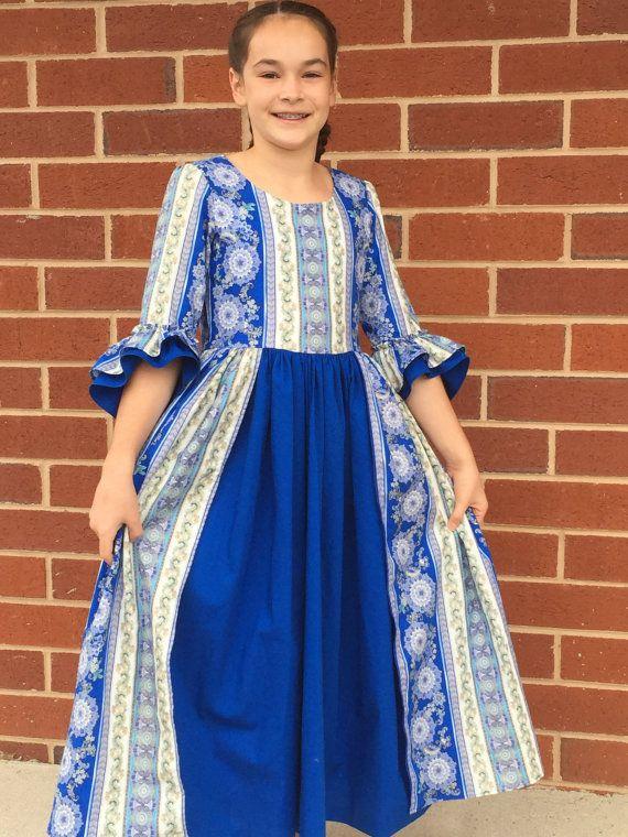 Custom colonial dress sizes 7 or 8 by EmilyandIzzy on Etsy