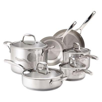 Guy Fieri Stainless Steel 10 Piece Cookware Set Target