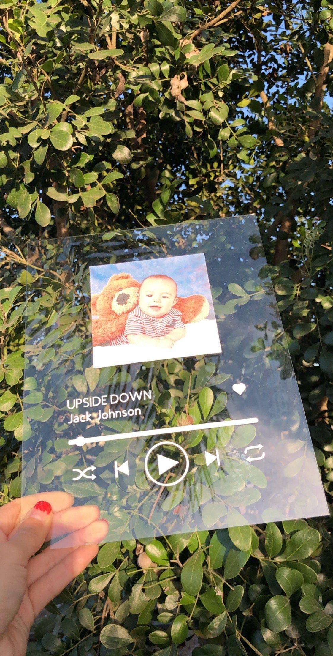 8x10 custom song glass plaque glass music sign viral tik
