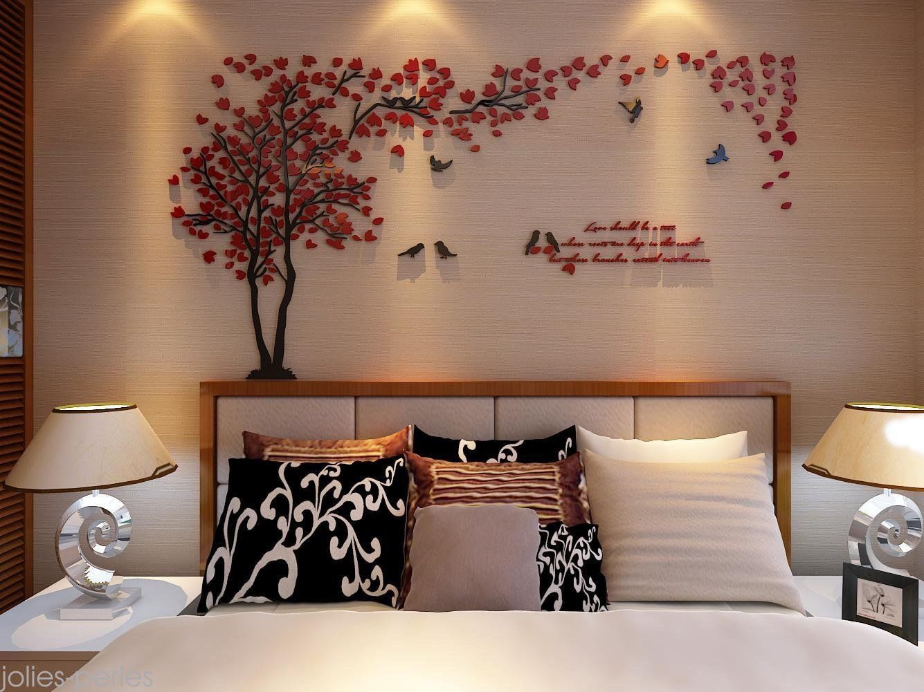 Home decor art  US D Couple Tree Wall Stickers Mural Living Room Bedroom Home Decor