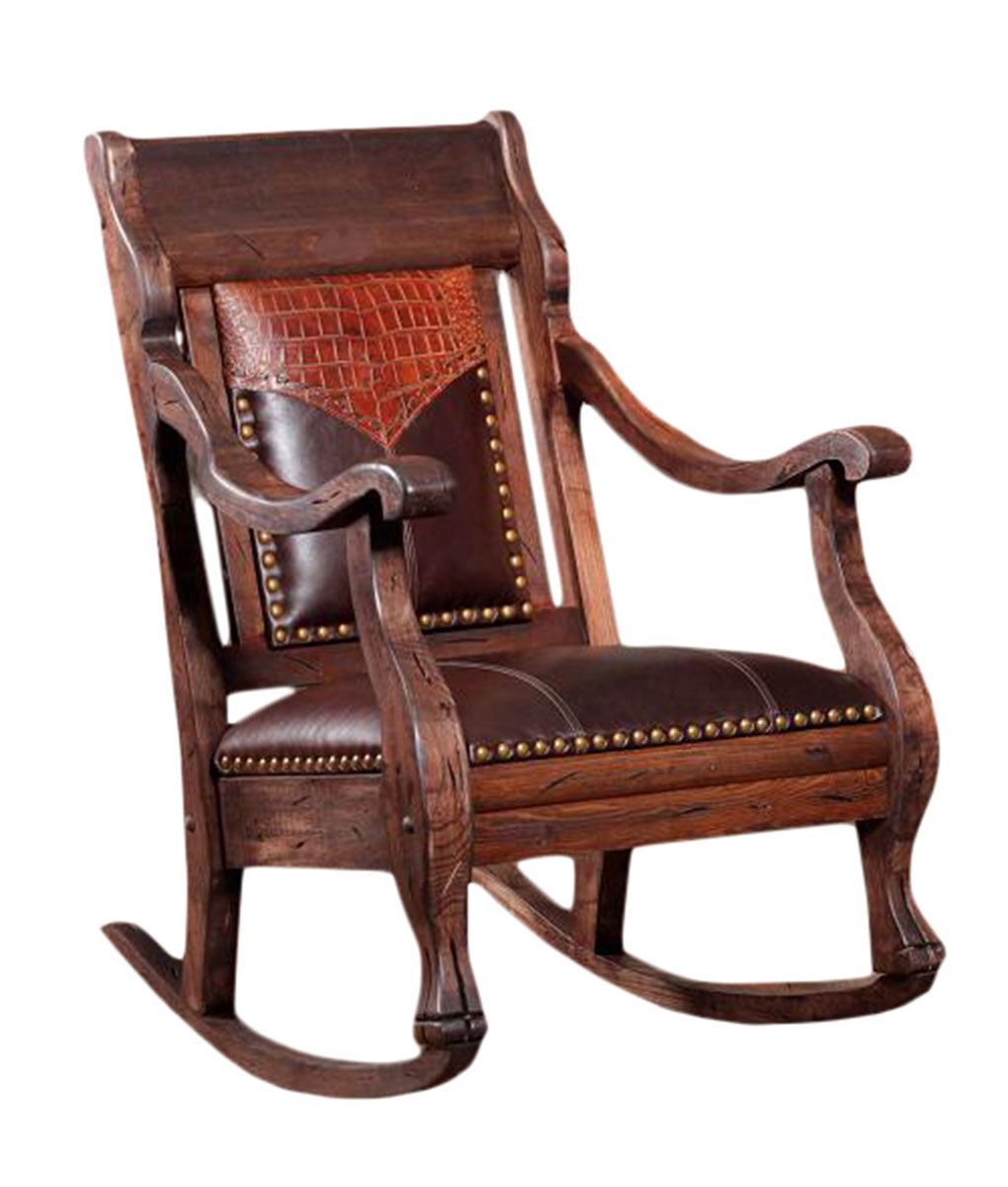 Mexican Rocking Chair Vintage Rocker Southwestern Rustic Spanish Mexican