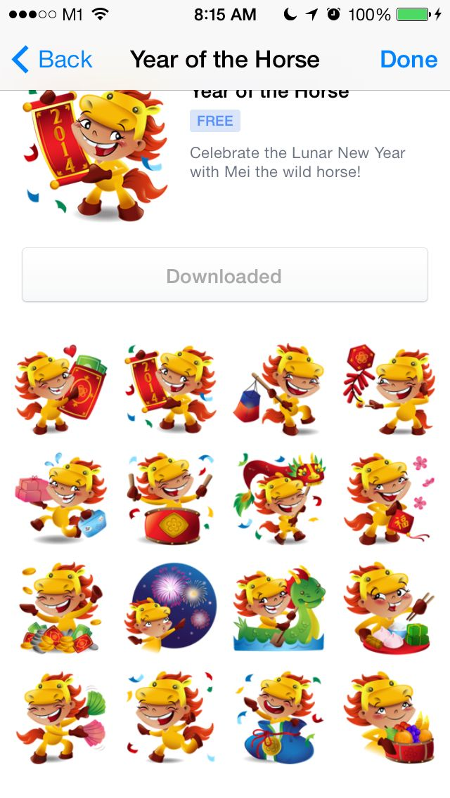 Chinese New Year Of The Horse Stickers By Shiu Pei Luu Get Them On