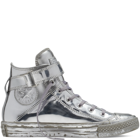 Converse - Chuck Taylor All Star Metallic Brea - Silver - Hi Top