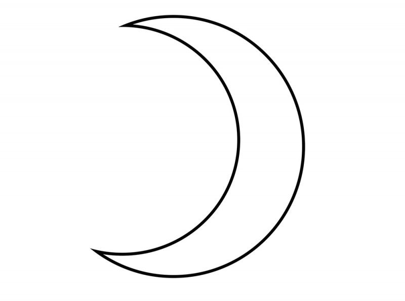 Line Art Moon : Simple crescent moon tattoos google search makeup