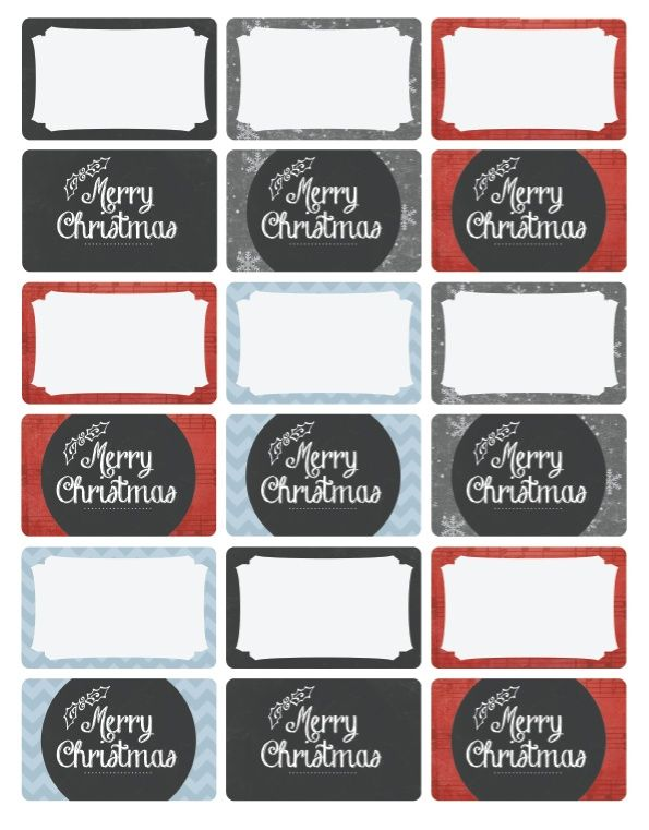 Free Christmas Tag Labels. Very Classy Vintage Themed Set By