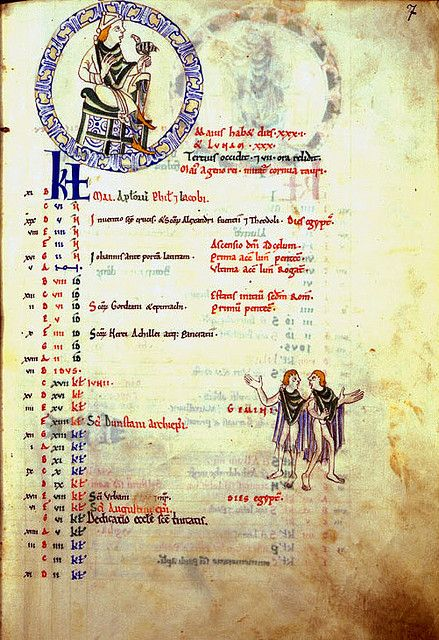 sta albans psalter   ... of the Months, May, St Albans Psalter   Flickr - Photo Sharing
