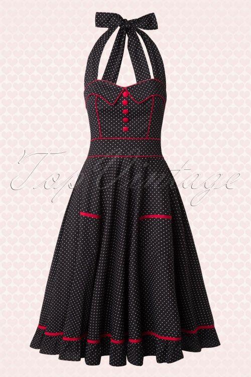 Bunny Black Polkadot Vanity Swing Dress 102 14 15293 3