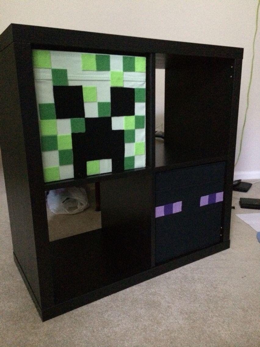 Minecraft Ikea Kallax Bins Kallax Ikea Boys Bedrooms Kallax