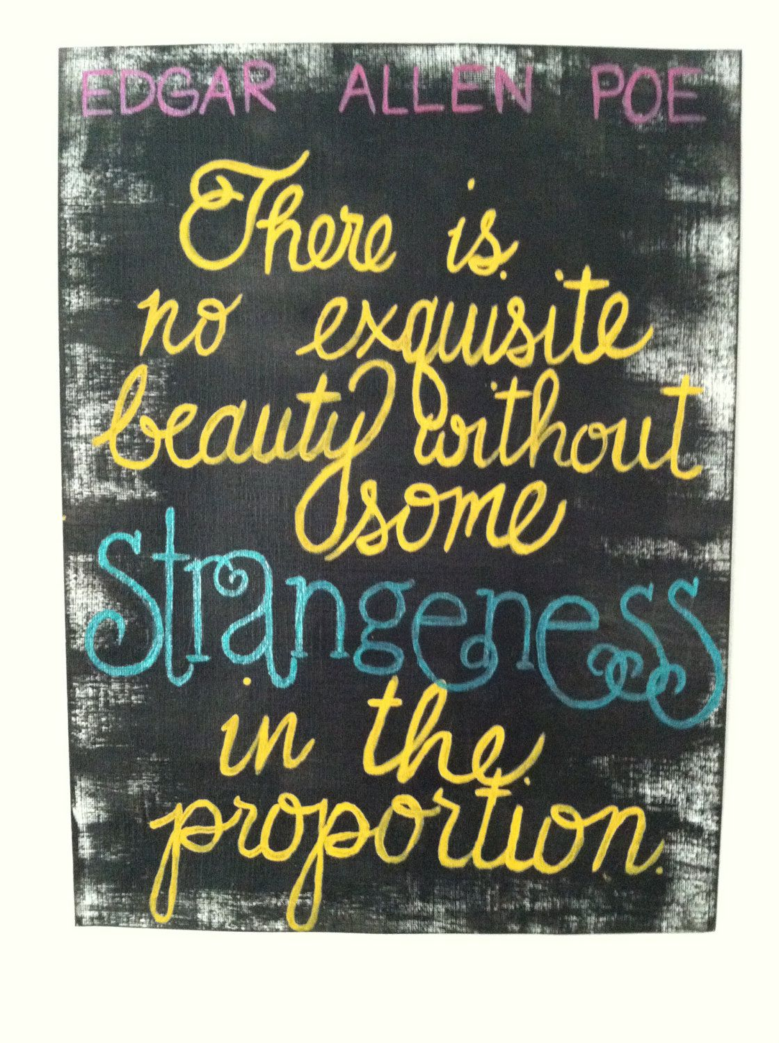 Quote Paintings Edgar Allen Poe Quote Painting On Canvasecwhitman On Etsy