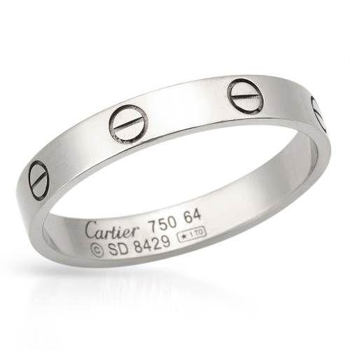 CARTIER 18K Gold Band Mens Ring