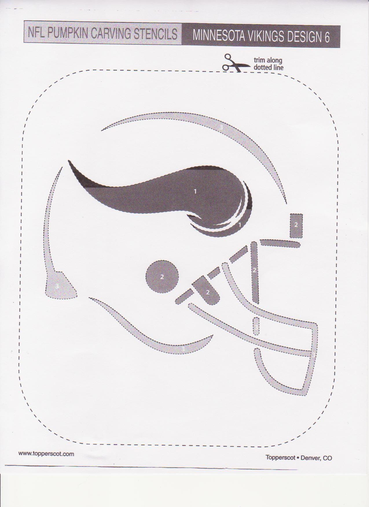 Nfl minnesota vikings stencil | free stencil gallery.