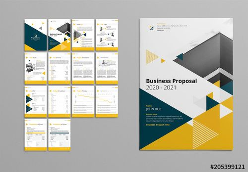 stock template of yellow and gray booklet layout search more