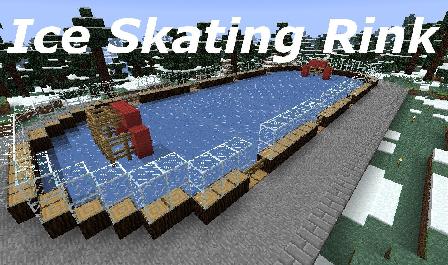 The Minecraft Mission Episode 7 Ice Skating Rink Ice Skating Rink Skating Rink Minecraft