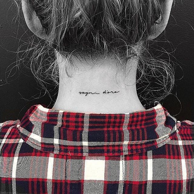 25 BackoftheNeck Tiny Tattoos to Inspire Your Next Ink