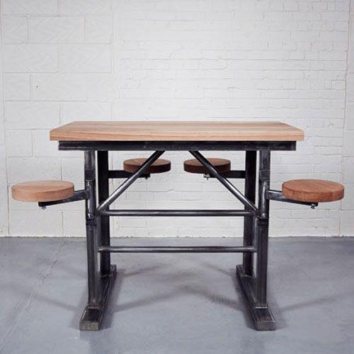Homebarn Industrial Tall Shipu0027s Bar Table   Home Barn Vintage