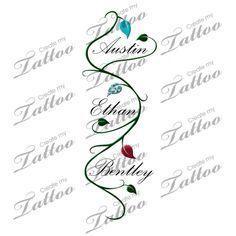 Image Result For Childrens Names Tattoos For Women Tatuaż