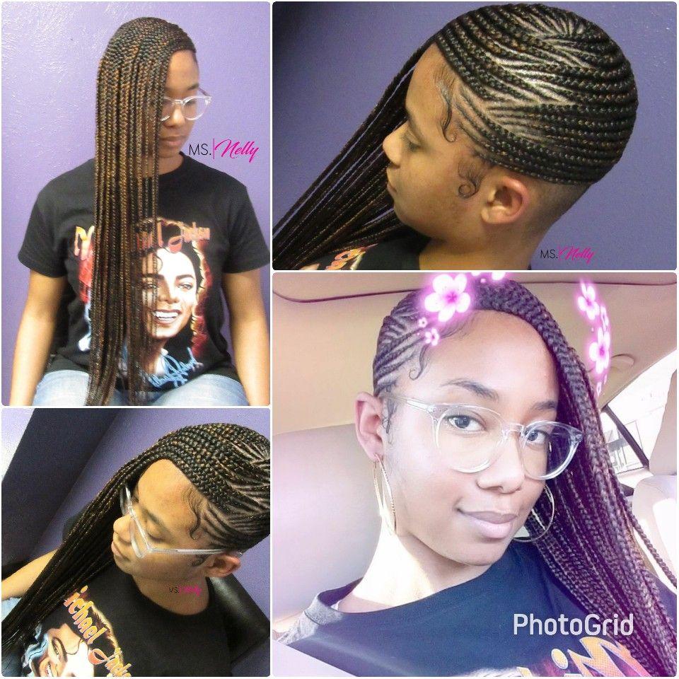 lemonade braids, feeder braids, side braids, beyonce braids