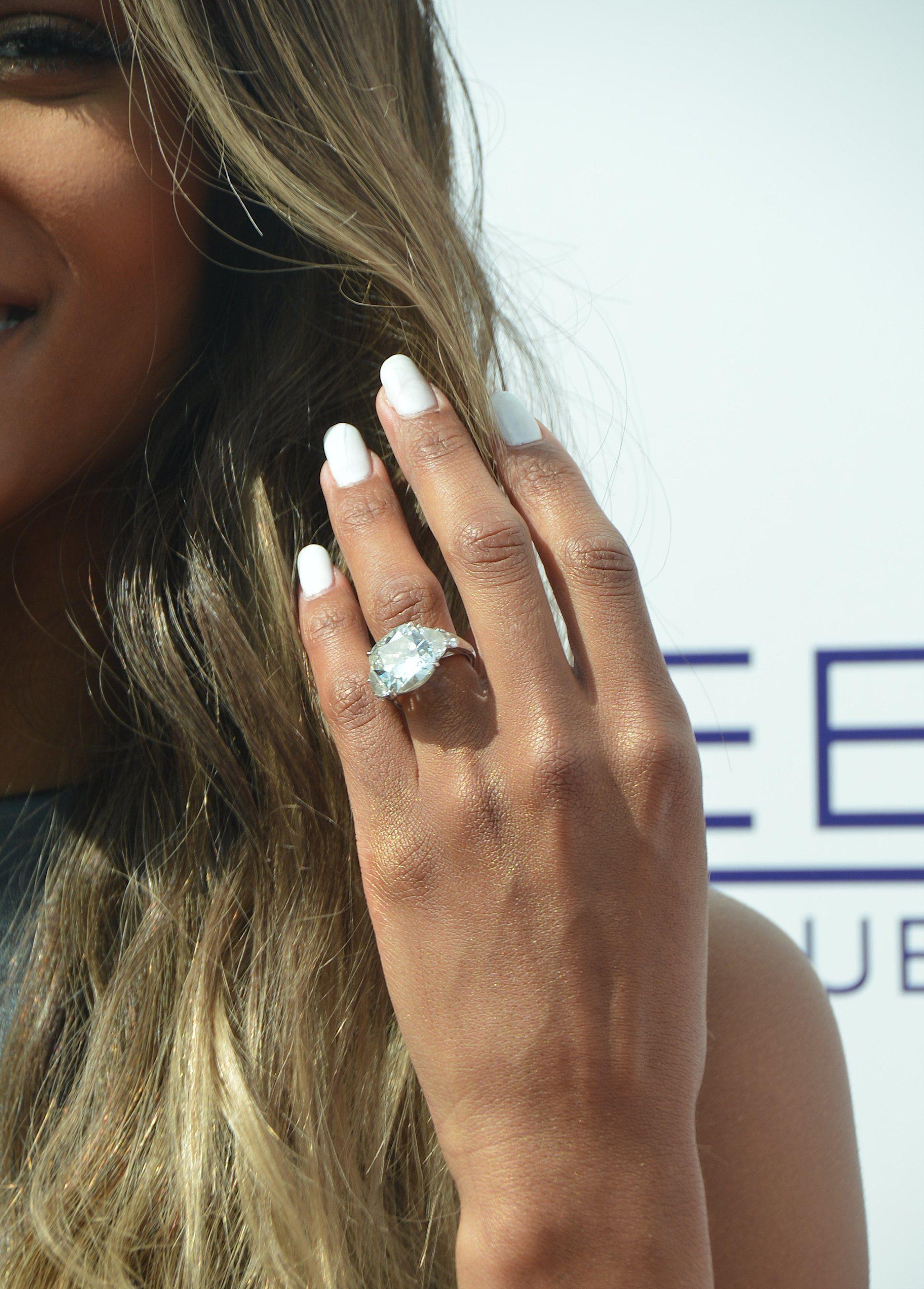 Get An Up Close Look At Ciara S Massive 16 Carat Engagement Ring Ciara Engagement Ring Celebrity Engagement Rings Best Engagement Rings