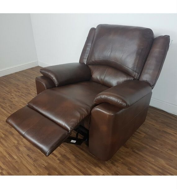 Chelsea Leather Air Electric Reclining Armchair - Brown ...