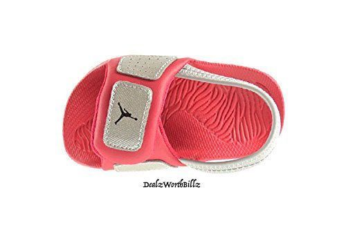 d60a45477f879 kid shoes Jordan Hydro 3 Sandal 630761 019 red silver infant size 8C new   Jordan  Sandals