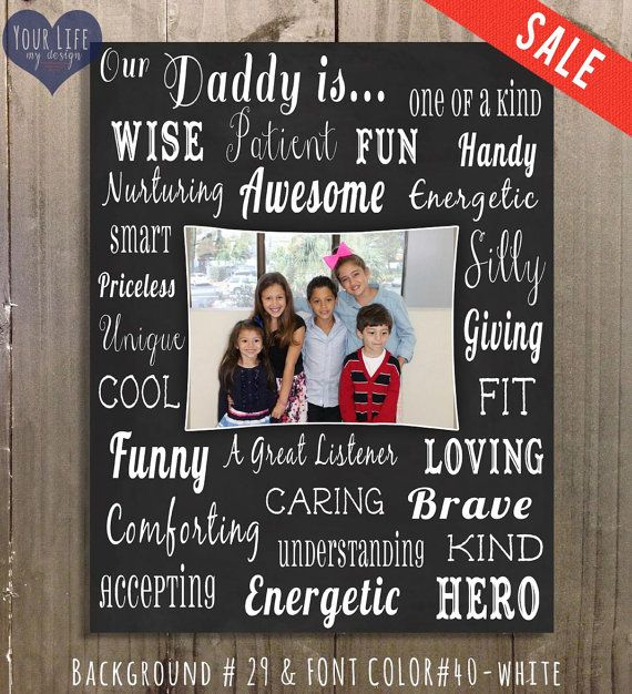Dad Canvas Father S Day Gift Personalized Photo Collage Dad
