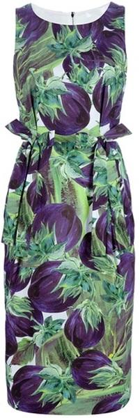 16599cc8eedc0 dolce gabbana Fruit Print Sleeveless Dress - Lyst