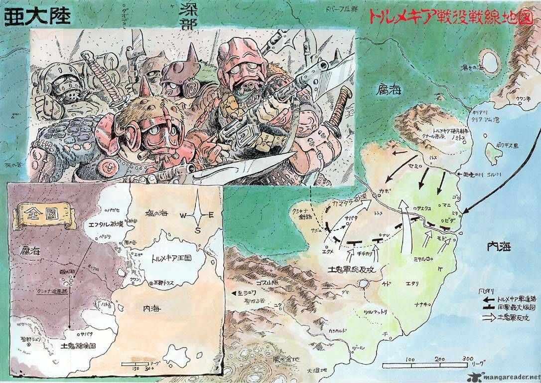 Nausicaa Of The Valley Of The Wind Map.Nausicaa Of The Valley Of The Wind Volume 3 6 スタジオジブリ