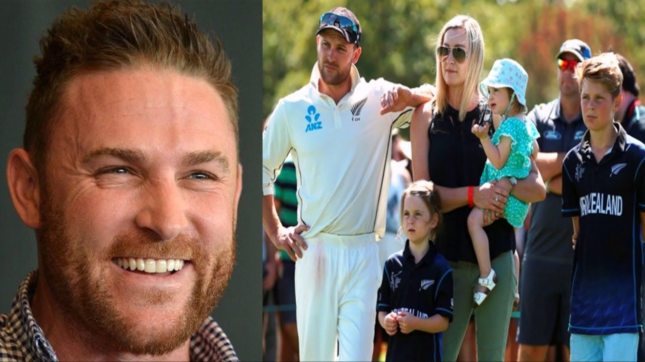 Cricketer Brendon Mccullum Family Photos with Wife and