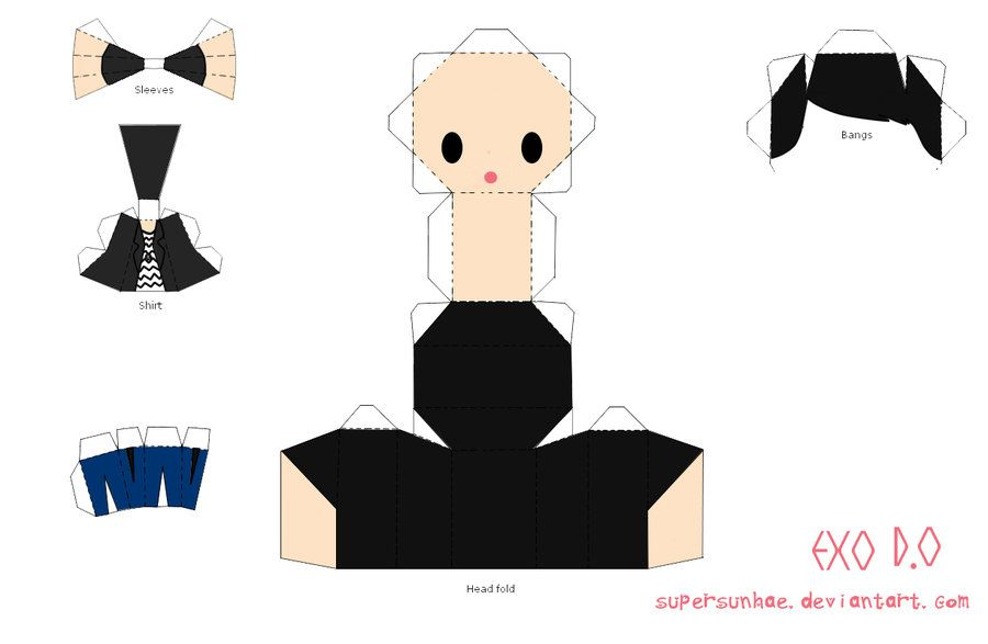 DO Papercraft Template By Supersunhae  Paper Craft