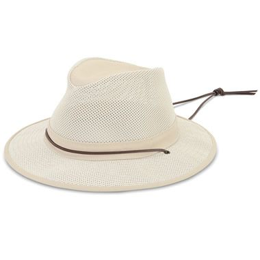 706e590833aa3 The Lady s Ventilated Brimmed Hat - Hammacher Schlemmer