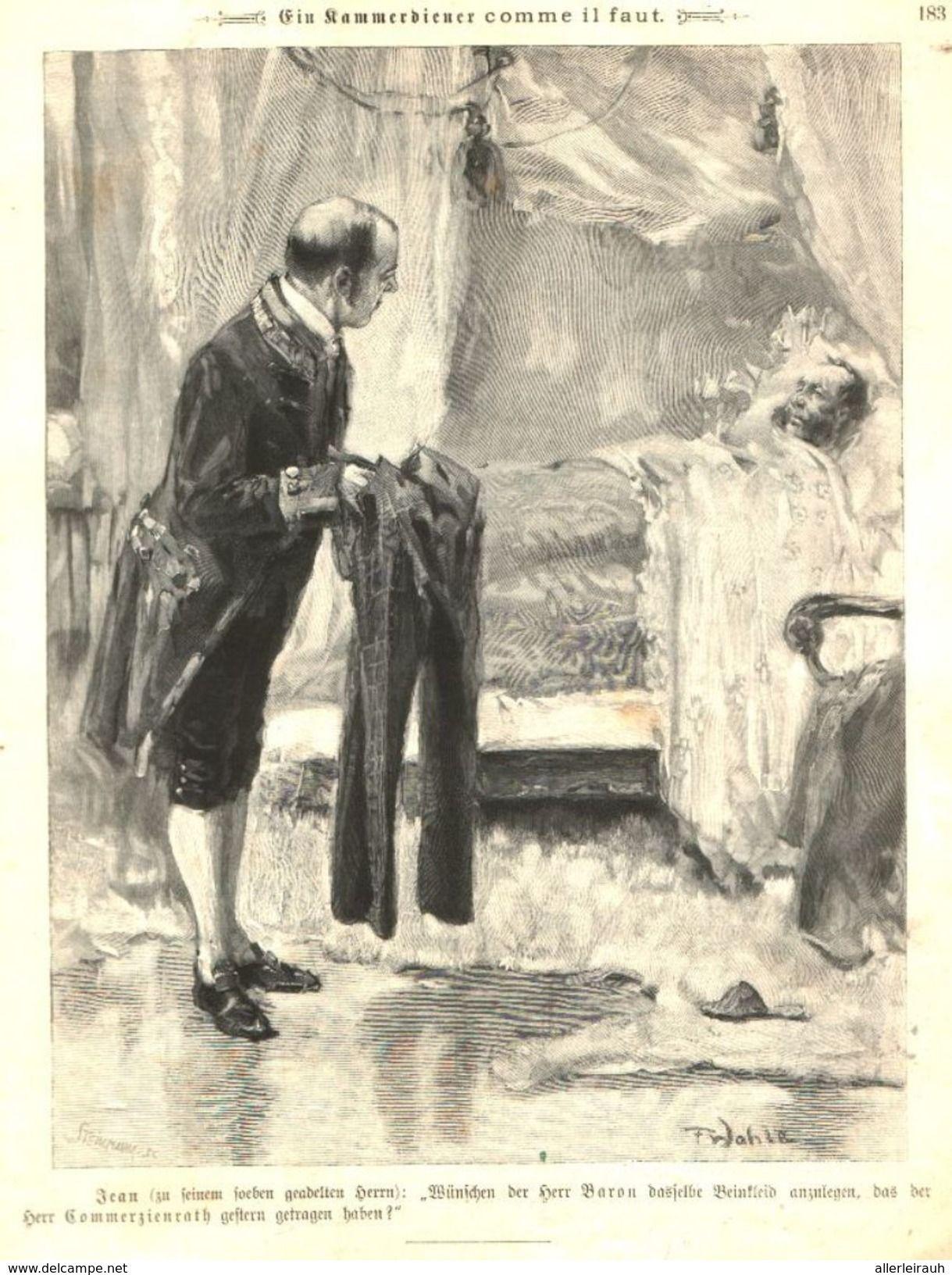 Ein Kammerdiener Comme Il Faut Cartoons Entnommen Aus Zeitschrift 1901 Zu Verkaufen Auf Delcampe Zeitschriften Diener Comic
