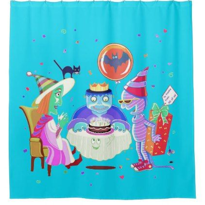 Happy Birthday Frankie shower curtain / backdrop - shower curtains home decor custom idea personalize bathroom