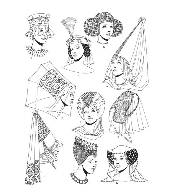 Medieval fashions coloring book 6