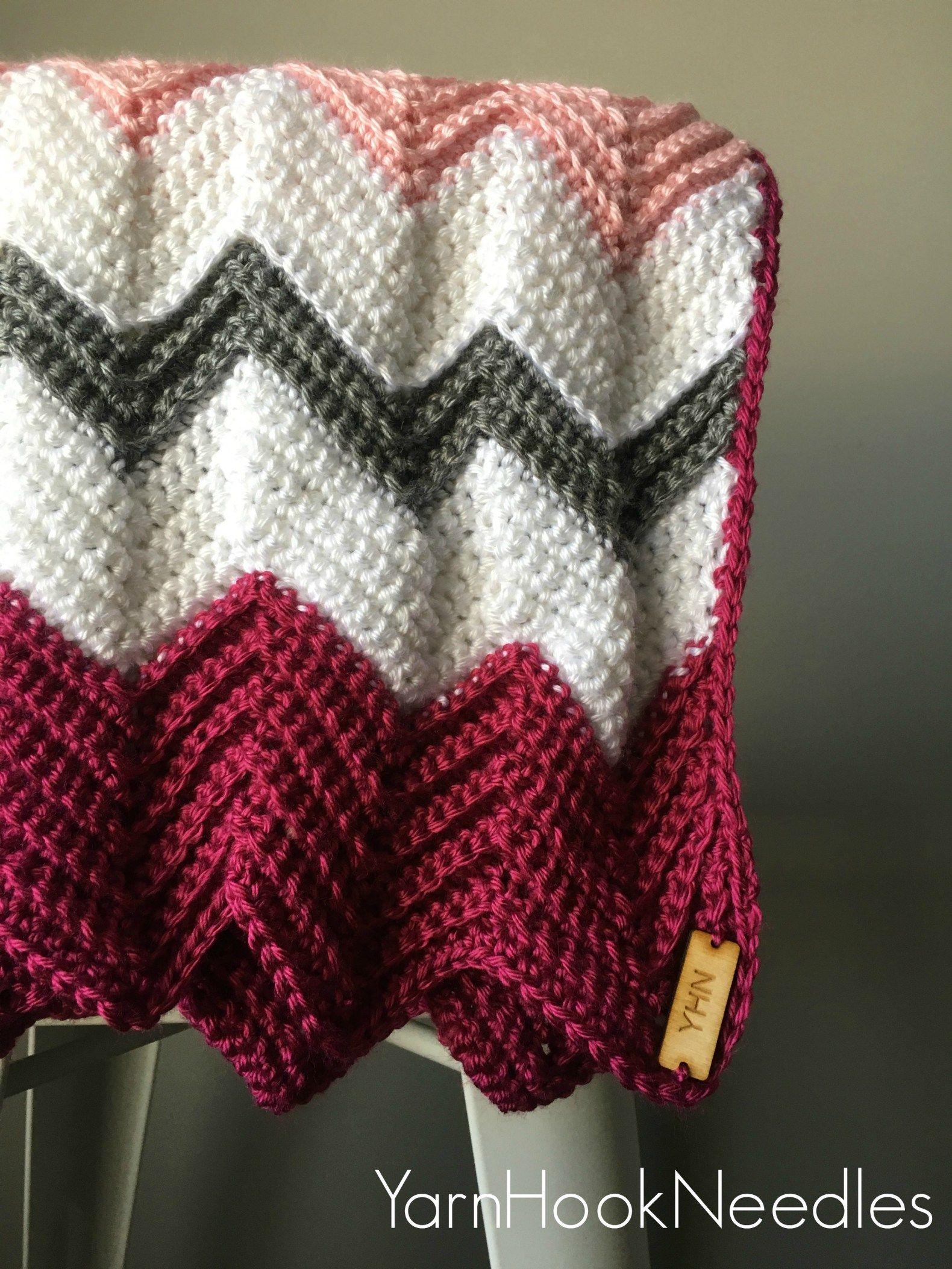 Needing a custom gift? Try out this easy crochet chevron blanket ...