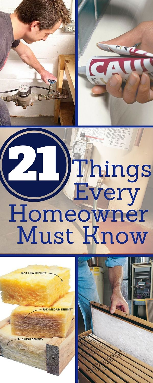 21 things every homeowner must know   new/smart homeowner