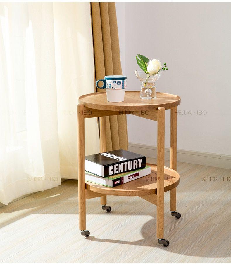 Love Scandinavian minimalist small coffee table round