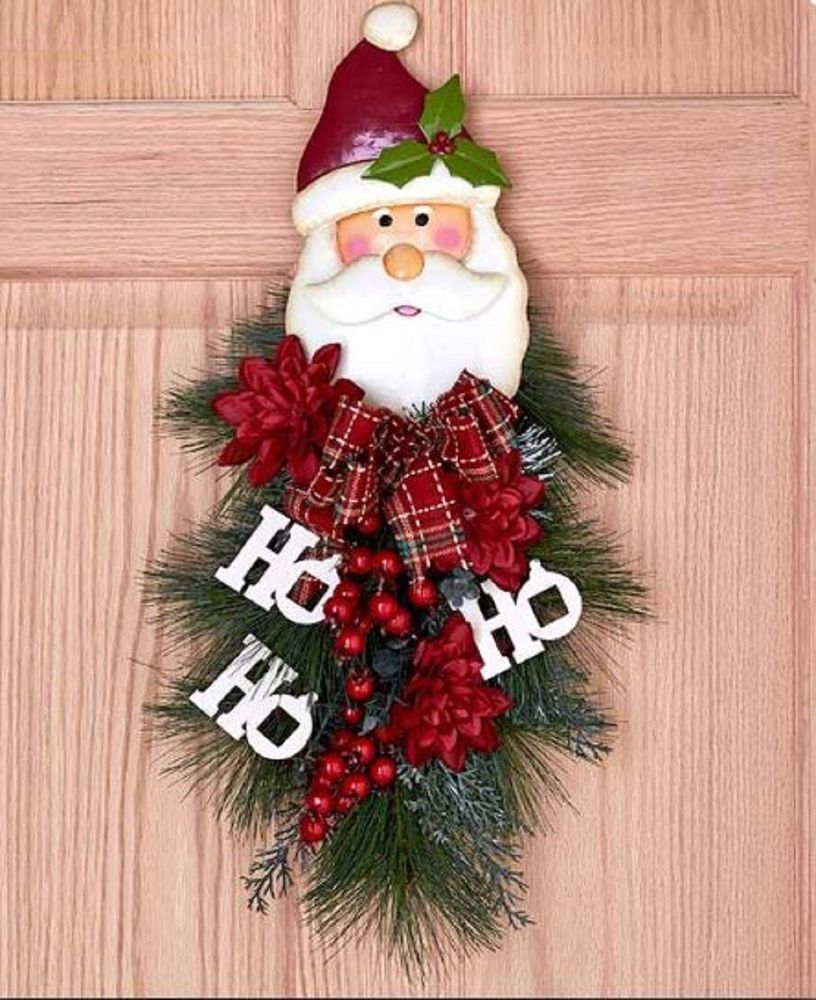 Details about snowman door swag hanging frosty holiday christmas