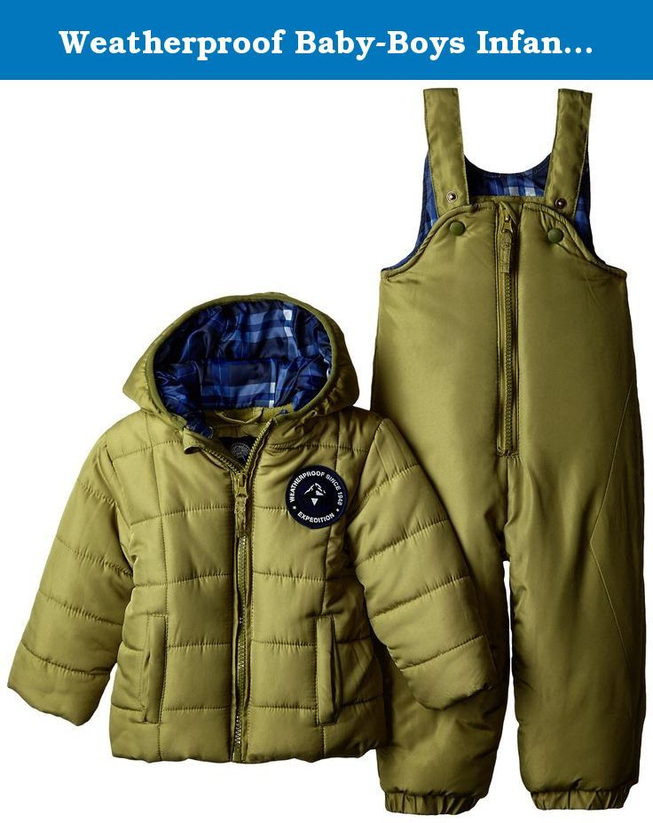 16ad50075fc8 Weatherproof Baby-Boys Infant Puffer Snowsuit
