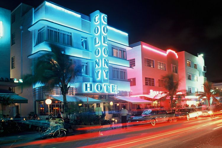 Colony Hotel Art Deco District South Beach Miami Florida