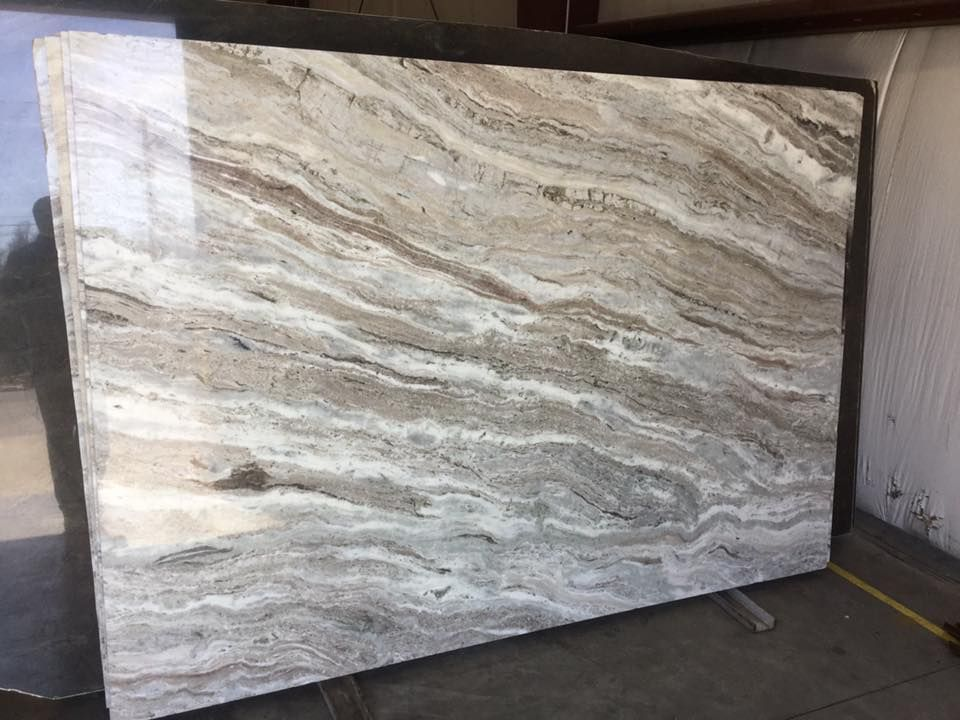 Brown And White Granite : Brown fantasy quartzite nice waves of white and