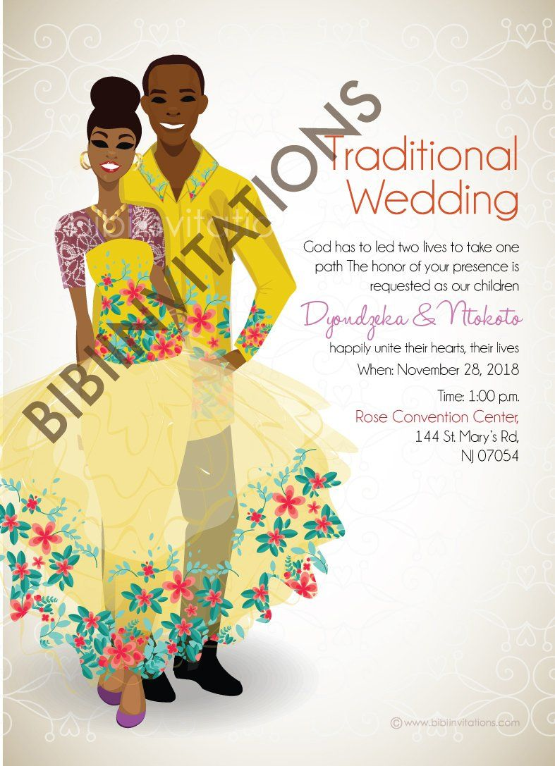 pin on west african tradional wedding invitation