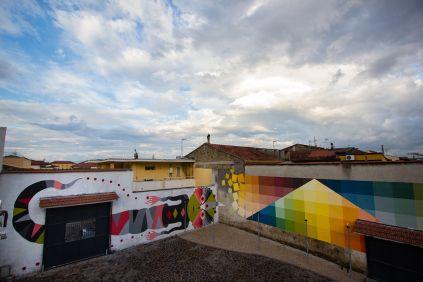 #Streetart: new wall by #Alberonero and #GioPistone @ #Casapesenna (Italy) #art #arte #urbanart