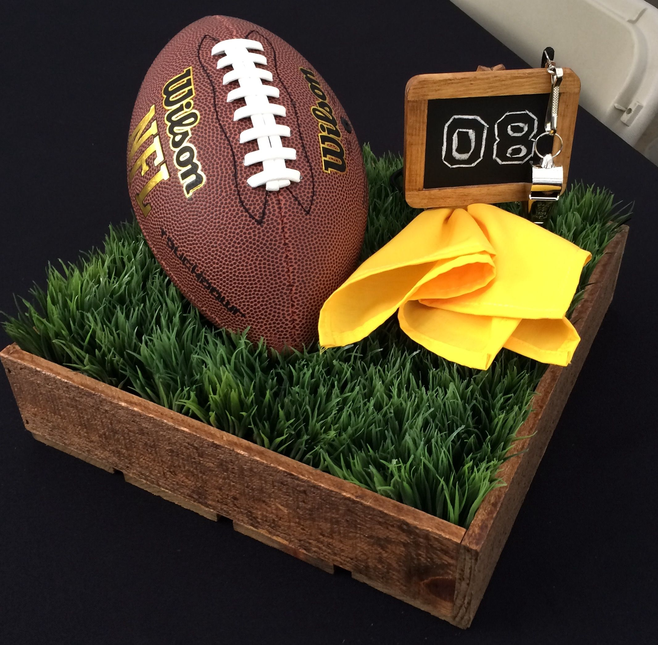 Football centerpiece birthday party