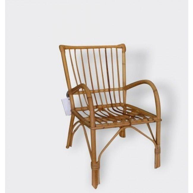 Chaise en rotin Arsène - rotin et osier - marron - bon état