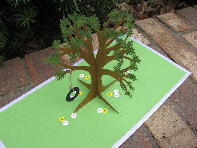 Tire Swing Pop Up Card Tree Cards Cards Handmade Pop Up Art