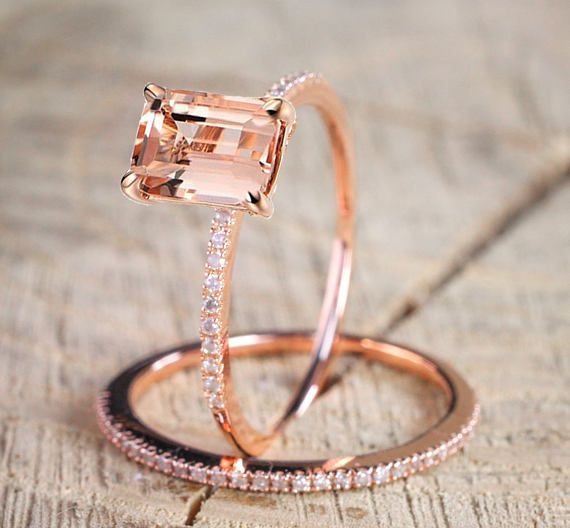 Limited Time Sale 150 carat Morganite and Diamond Halo Bridal