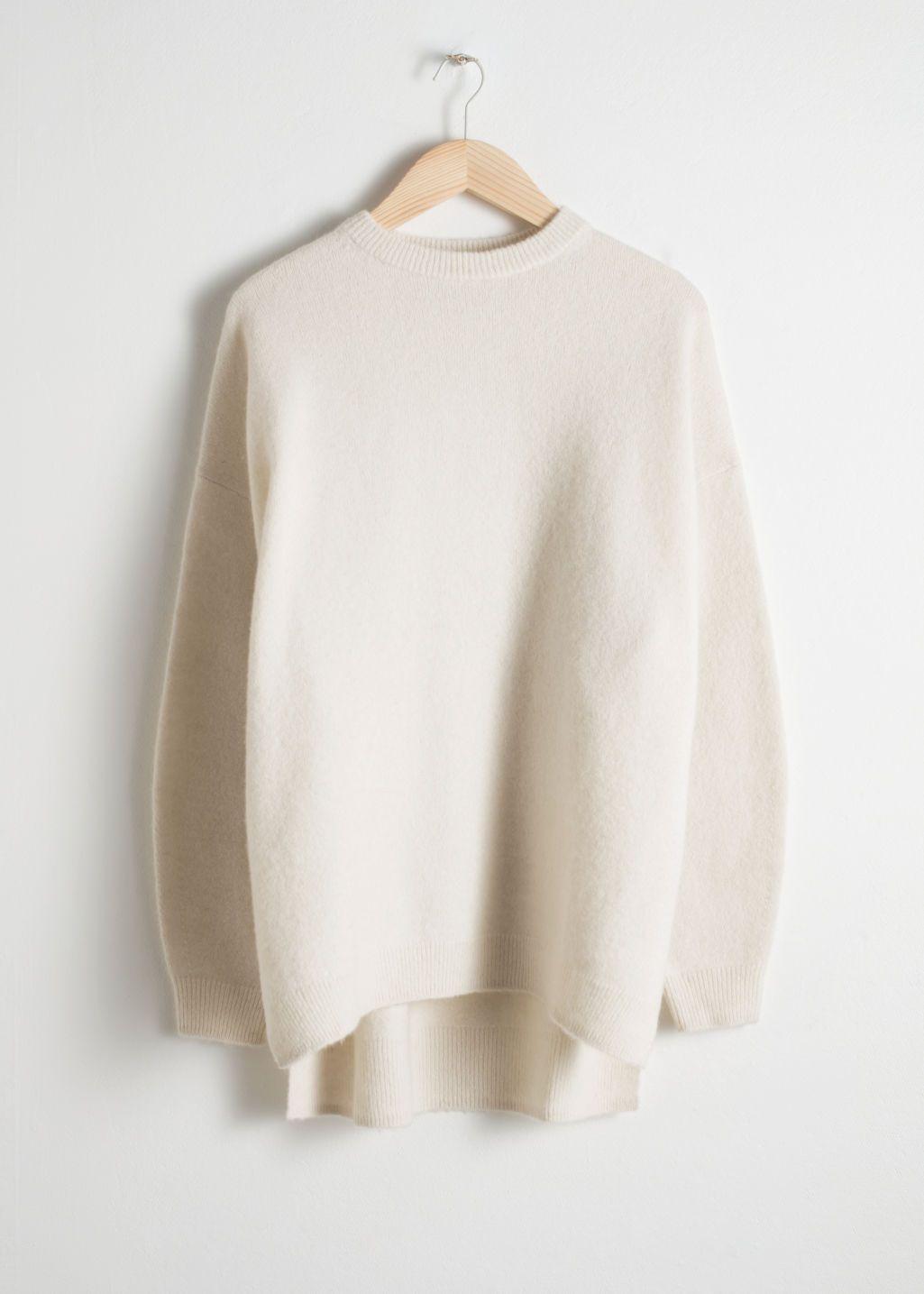 Oversized Wool Blend Sweater | Sweaters, Fashion, Cashmere