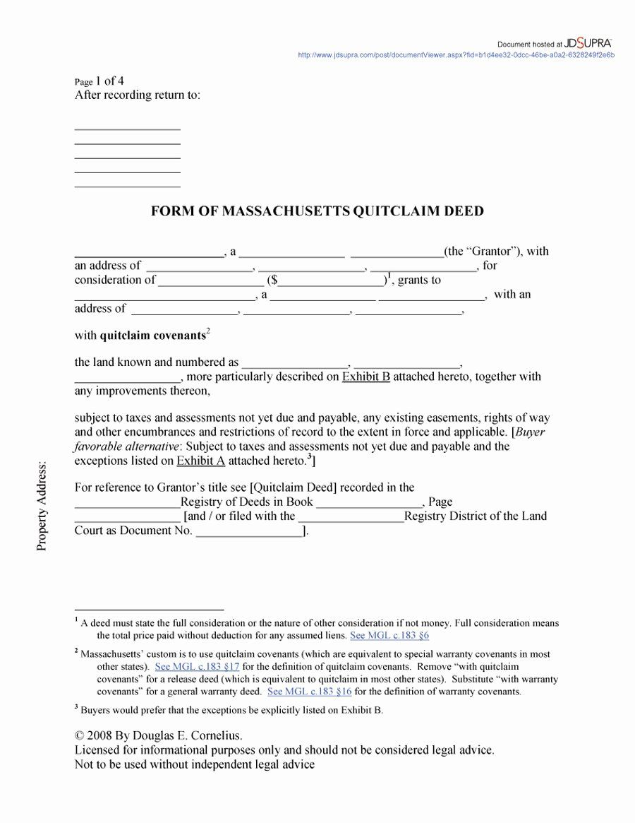 Microsoft Word Warranty Deed Template Awesome Free Quick Deed Form